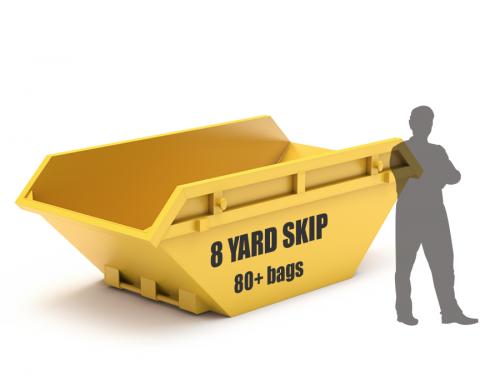8 yard skip size